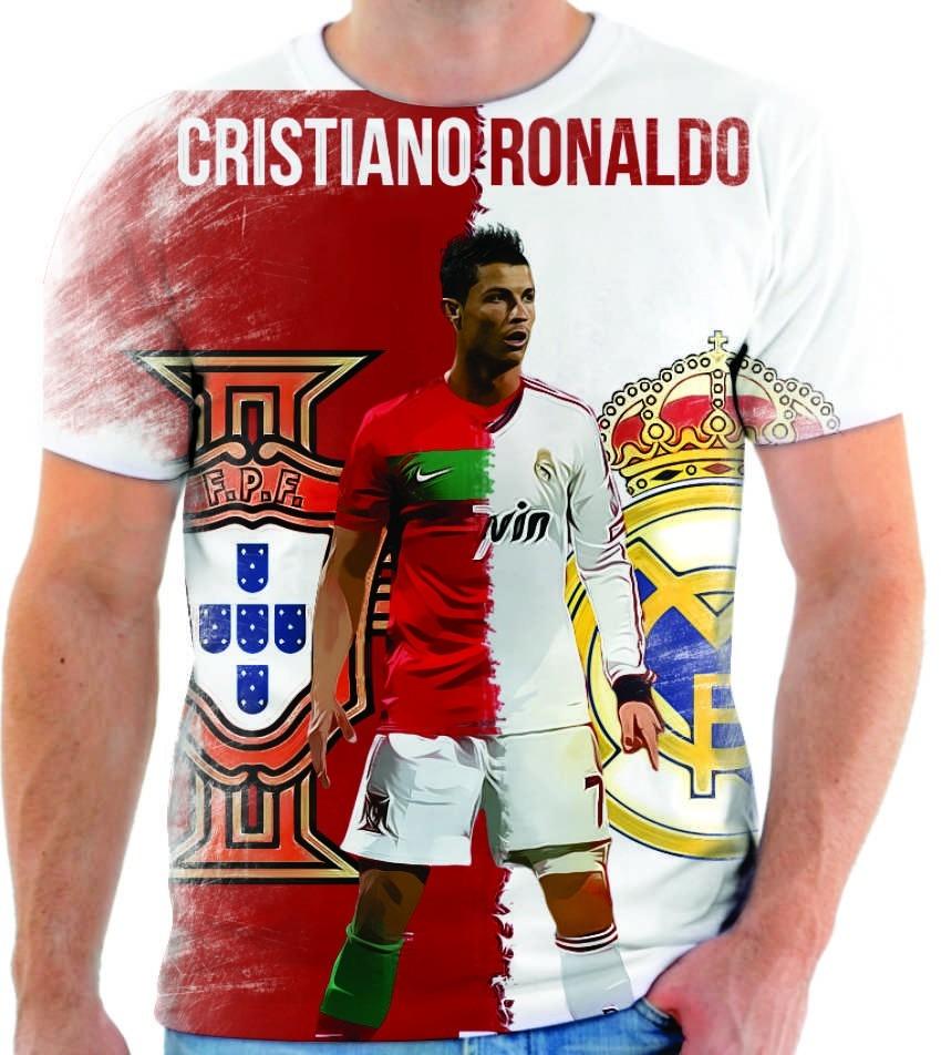 3d14ea4061 camiseta camisa cristiano ronaldo real madrid cr7 12. Carregando zoom.