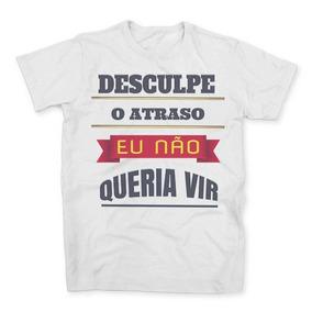 6081d58ca Camiseta Comprida Atras Masculina no Mercado Livre Brasil