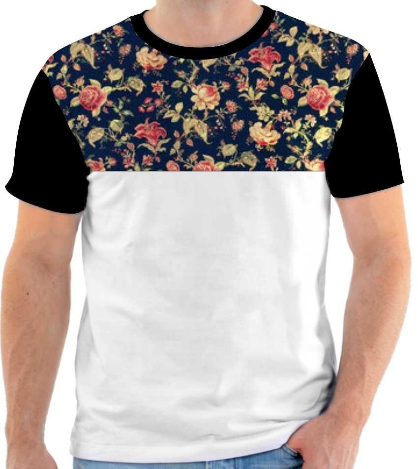 935988b086ddf camiseta - camisa estampa florida floral moda masculina 2016. Carregando  zoom.