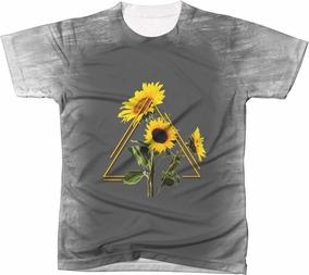 d00915bc1 Camiseta Camisa Estampa Girassóis Vintage 041