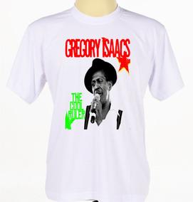 2464b60e29 Camiseta Camisa Estampada Cantor Reggae Gregory Isaacs