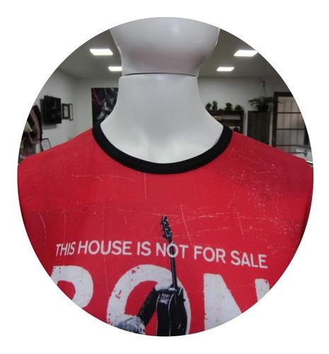 camiseta camisa feminina bon jovi baby look roupas blusa 3d