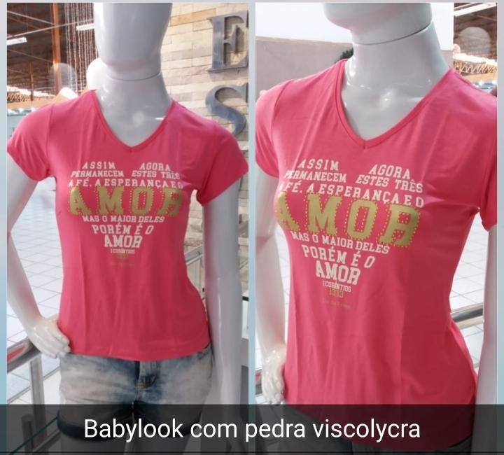 4ff48723e7 Camiseta Camisa Feminina Manga Curta Frase Gospel (pedraria) - R  39 ...