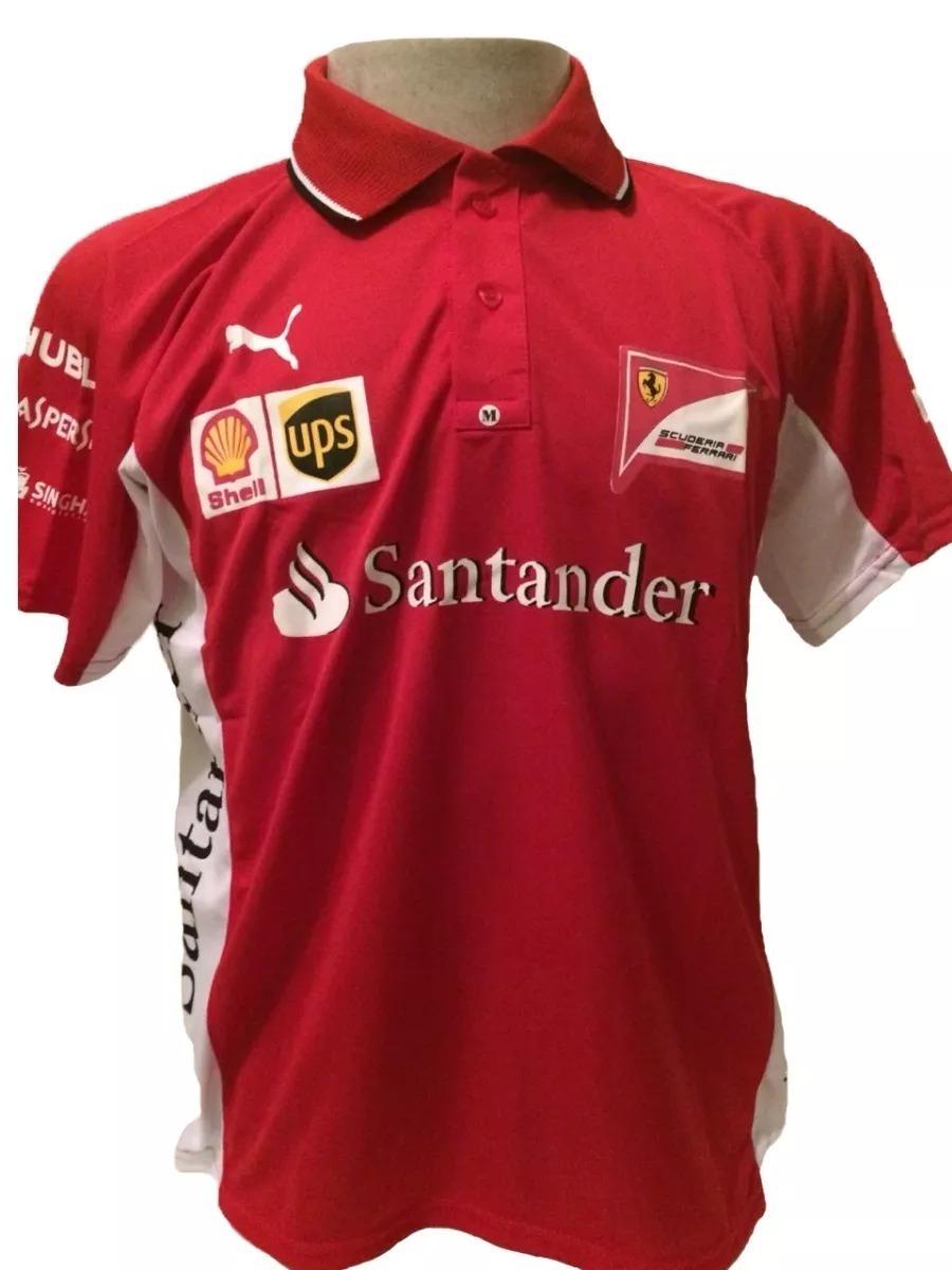 camiseta camisa ferrari santander masculina promoção. Carregando zoom. a9bef6b32c54c