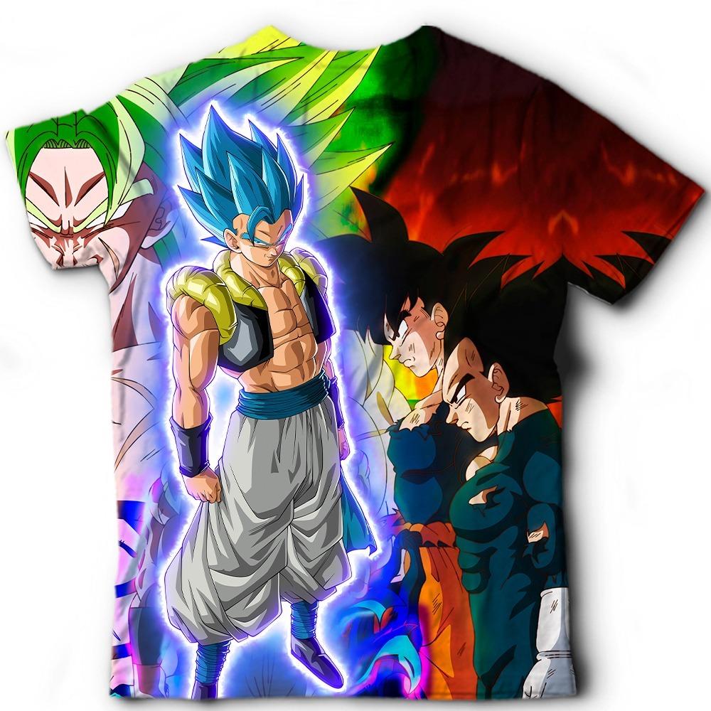 Camiseta Camisa Gogeta Ssj Blue Dragon Ball Super Filme Dbs R