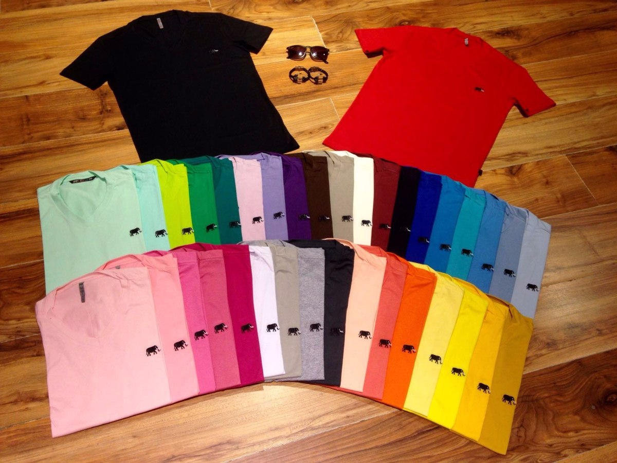 01facfe920 camiseta camisa gola v m rtt várias cores moda masculina. Carregando zoom.