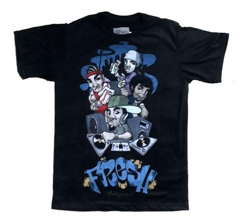 camiseta camisa hip hop elementos break dj graffiti mc