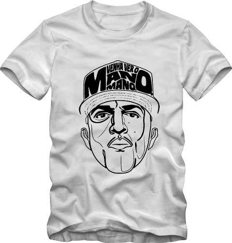 camiseta camisa hip hop rap mano brown + brinde