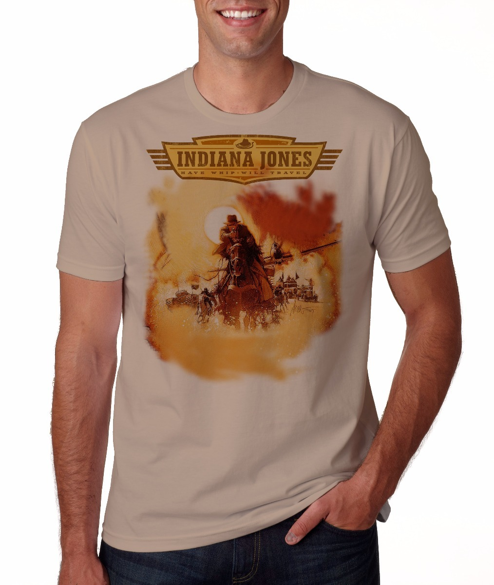 camiseta camisa indiana jones harrison ford. Carregando zoom. c09f3b8a239