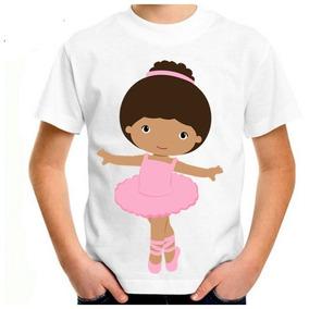 4fe9f60697ab Camisetas Personalizadas Com Bailarinas - Camisetas Manga Curta no Mercado  Livre Brasil