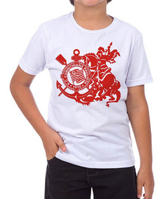 4940f3748917d Camiseta Corinthians São Jorge no Mercado Livre Brasil