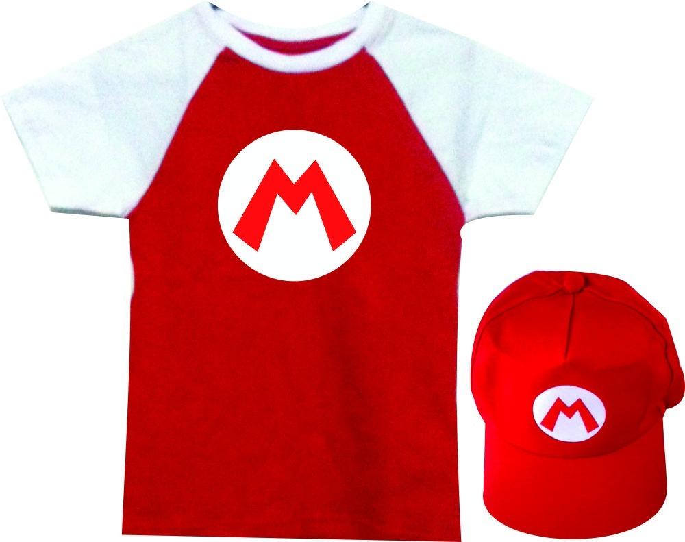 camiseta camisa infantil super mario personalizada e boné. Carregando zoom. a5d7af4470b