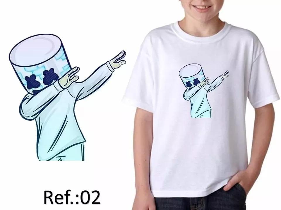 Camiseta Camisa Juvenil Unissex Divertida Dj Marshmallow