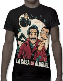 0e1fe6623 Camiseta Camisa La Casa De Aluguel La Casa De Papel Full