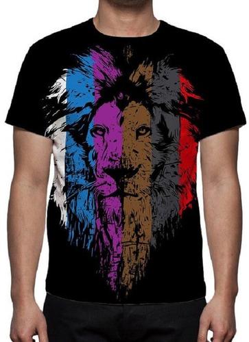 camiseta, camisa leão jiu jitsu - estampa total - promoção