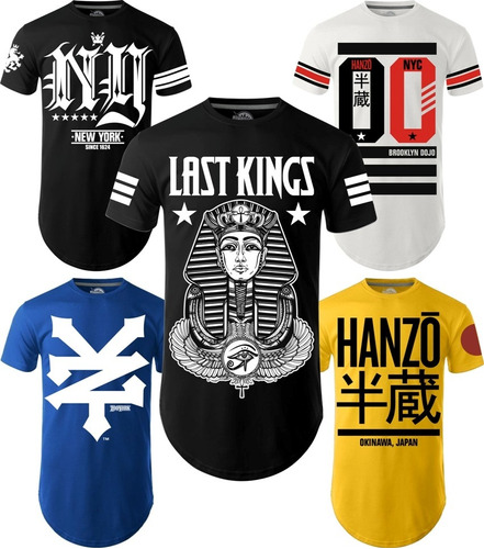camiseta camisa longline kings swag brooklyn ny la oversized