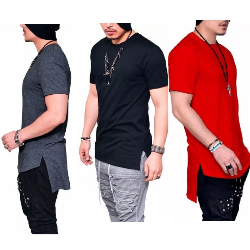 6933a0c5a camiseta camisa longline oversized masculina longa alongada. Carregando  zoom.