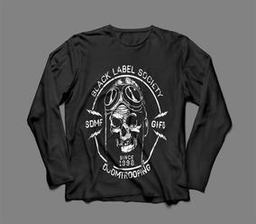 268498b04d Johnnie Walker Black Label Camiseta Manga Longa Preta - Camisetas e Blusas  com o Melhores Preços no Mercado Livre Brasil