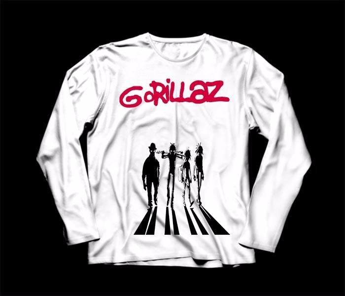 Camiseta   Camisa Manga Longa Feminina Gorillaz - R  61 77b39ffb5dd38