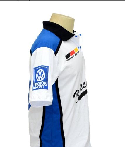 camiseta camisa masculina esportiva gola polo volkswagen vw