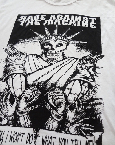 camiseta / camisa masculina rage against the machine
