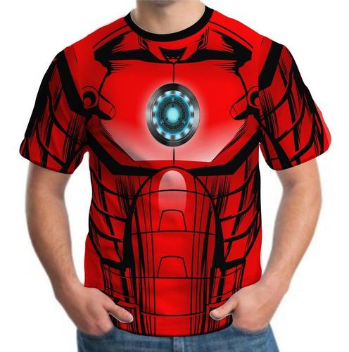 camiseta camisa masculina roupas herois homem de ferro 3d
