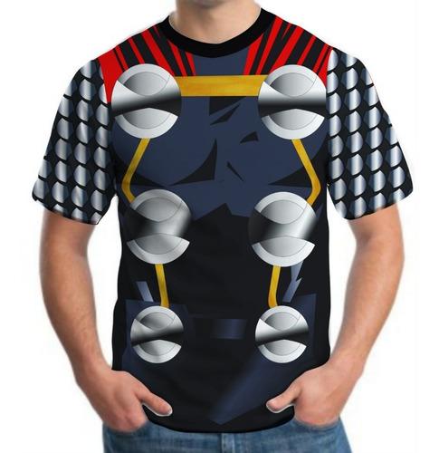 camiseta camisa masculina roupas herois thor vingadores 3d
