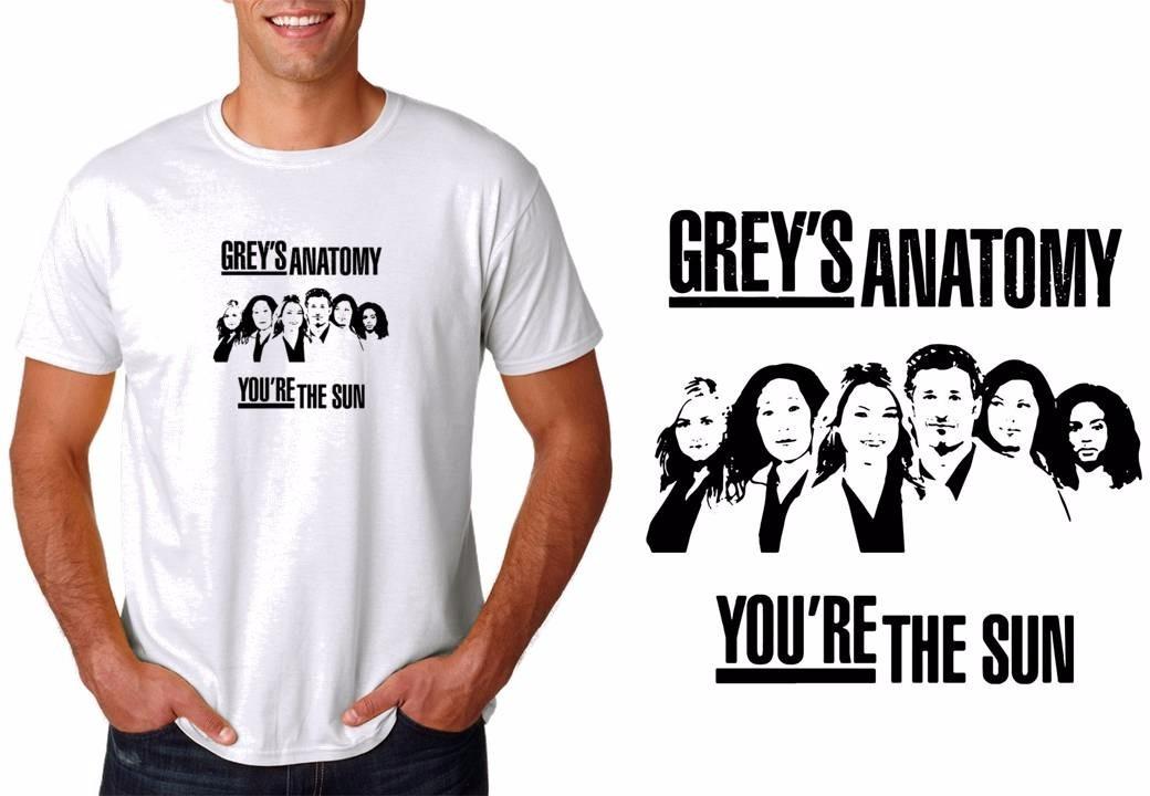 Camiseta Camisa Masculina Série Greys Anatomy Fãs Da Serie - R$ 26 ...