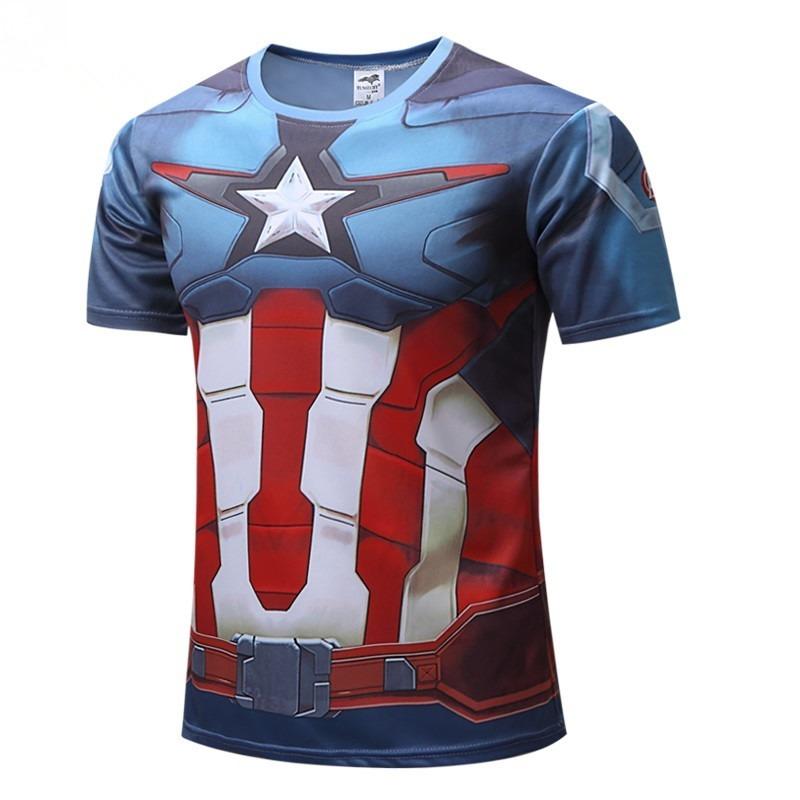 camiseta camisa masculina super heróis compressão vingadores. Carregando  zoom. 6175879ba4712