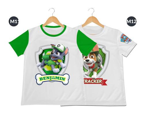 camiseta camisa niño paw patrol patrulla cachorros poliester