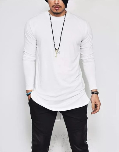 camiseta camisa oversized longline masculina ny kings top