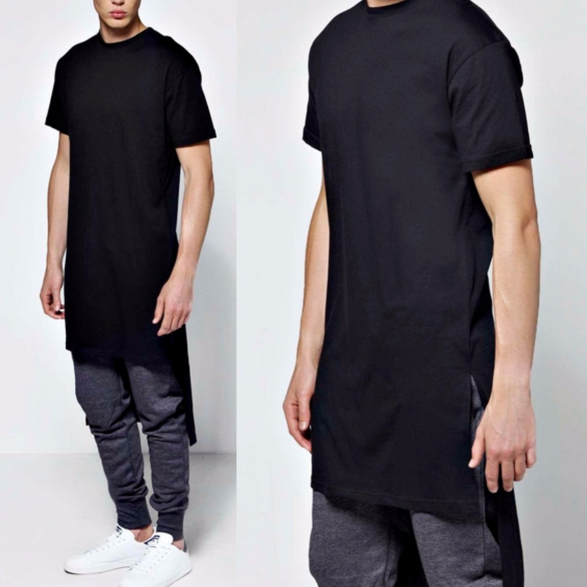 9847a1db3 camiseta camisa oversized swag longline masculina super long. Carregando  zoom.