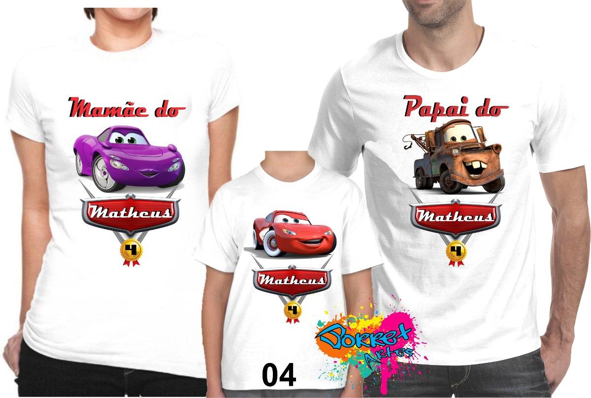c2768f623d camiseta - camisa personalizada carros disney a3   3 peças. Carregando zoom.
