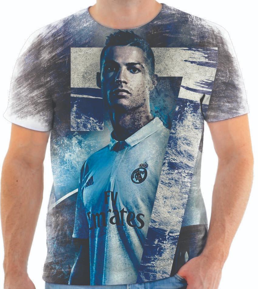 b02168f27d camiseta camisa personalizada estampa cristiano ronaldo 115. Carregando  zoom.