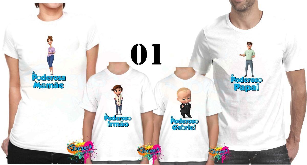 628edf12f9 Camiseta - Camisa Personalizada O Poderoso Chefinho A4 - R  84