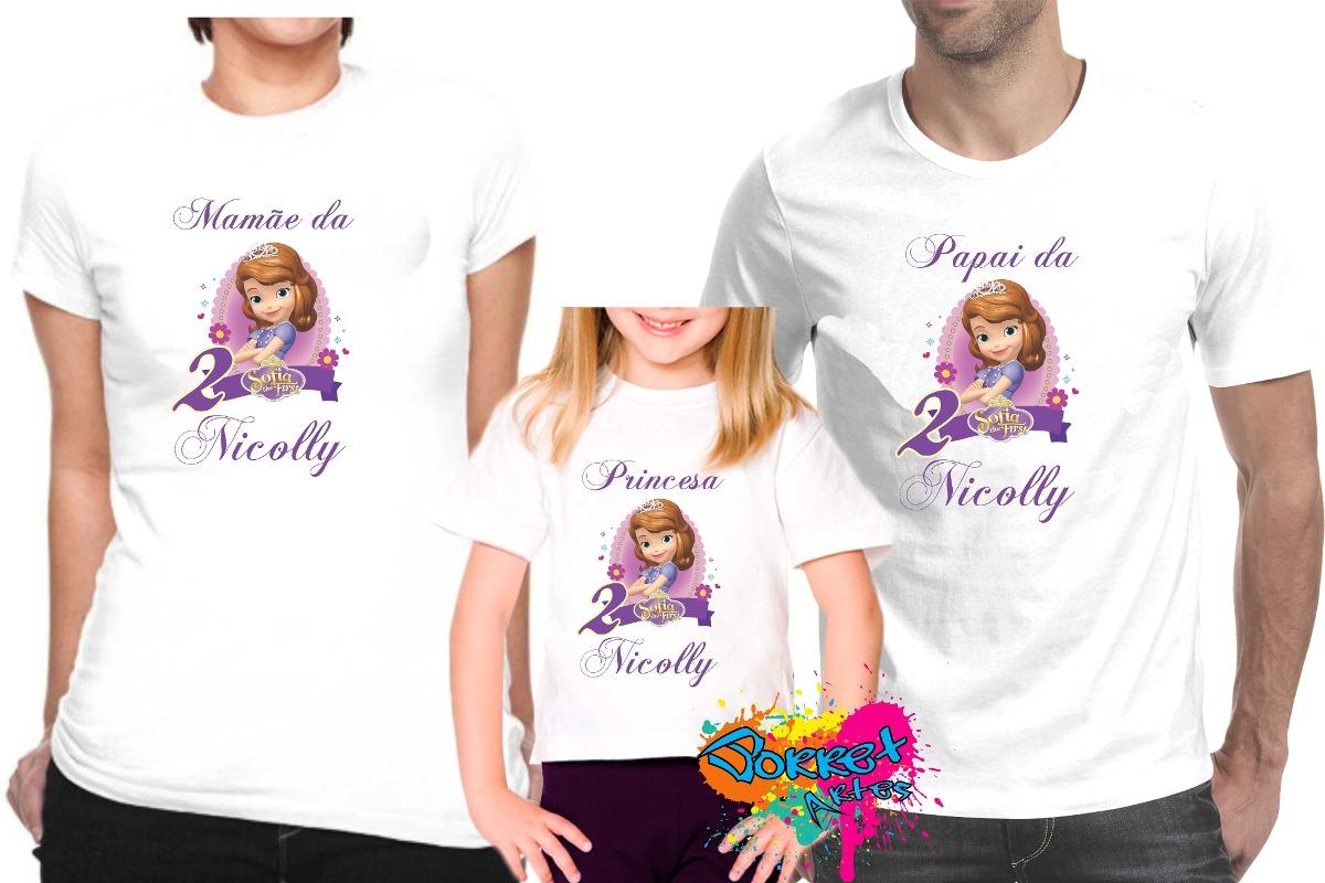 Desenho De Camisa: Camisa Personalizada Princesa Sofia A4/ 3pçs