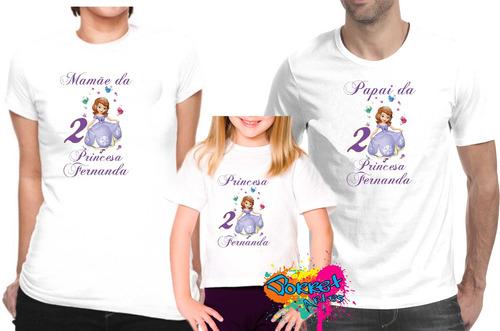 camiseta - camisa personalizada  princesa sofia a4/ 3pçs