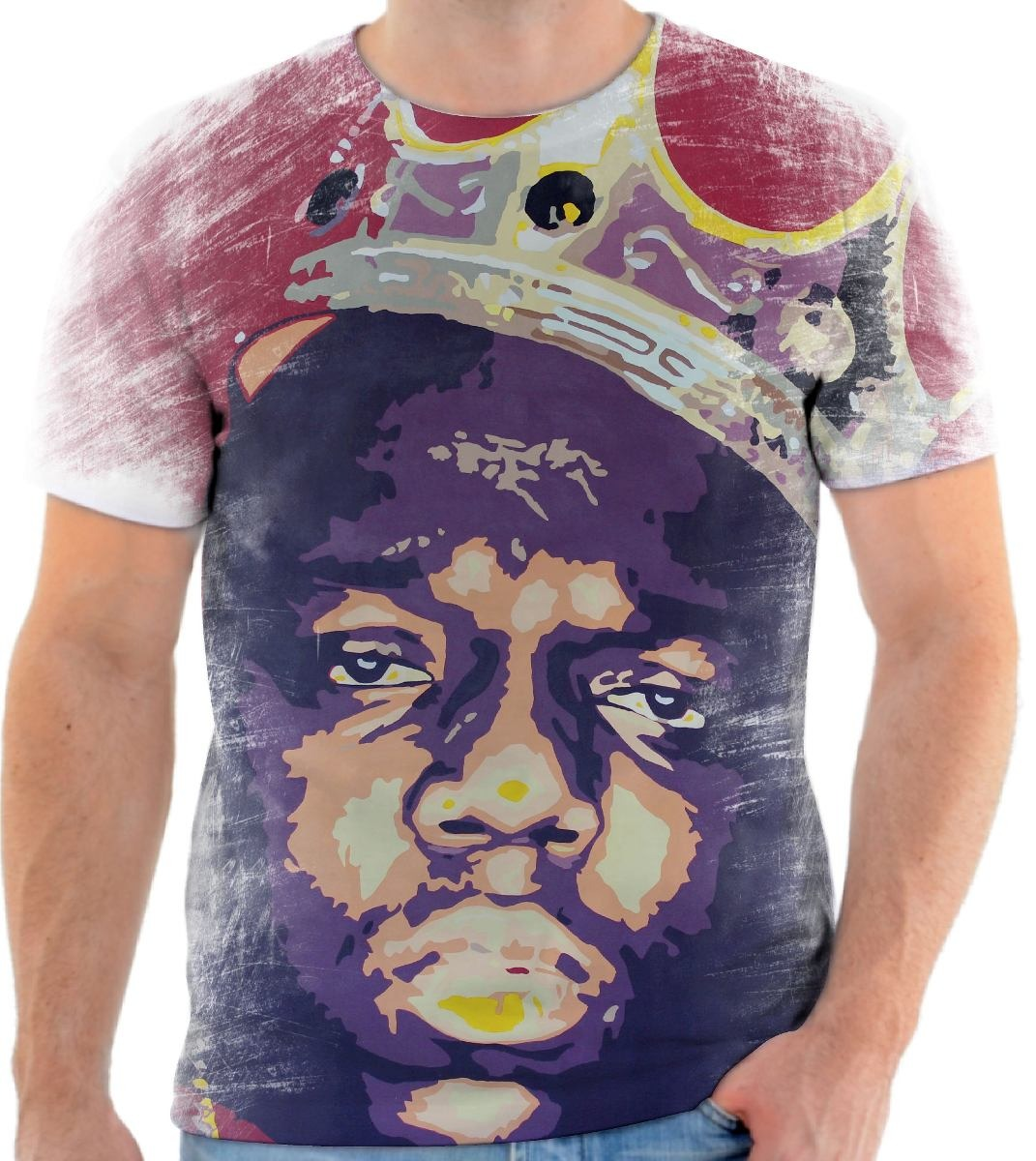 Camiseta Camisa Personalizada Rapper Notorious Big 7 - R  44 4a253353c701f