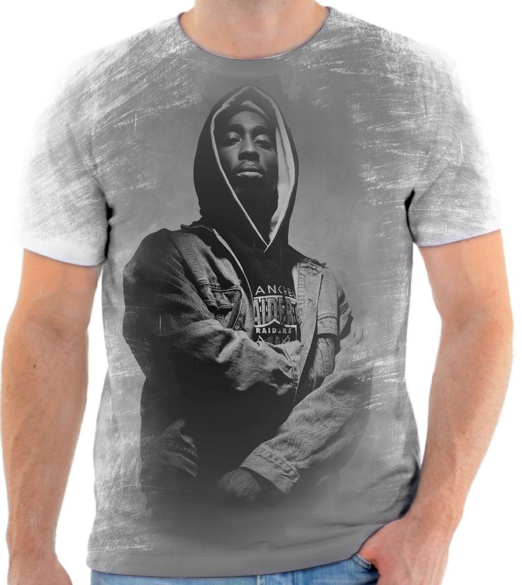 Camiseta Camisa Personalizada Rapper Tupac Shakur Makaveli 2 - R  44 ... 9a81634c351bc