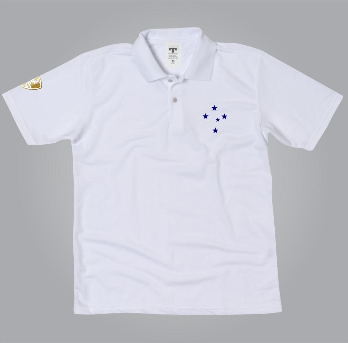 camiseta camisa polo cruzeiro torcedor zero campeão copa. Carregando zoom. 209887904ba91