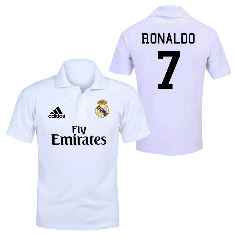 ce531ebdfcc8b camiseta camisa polo real madrid fc time futebol cr7 ronald. Carregando zoom .