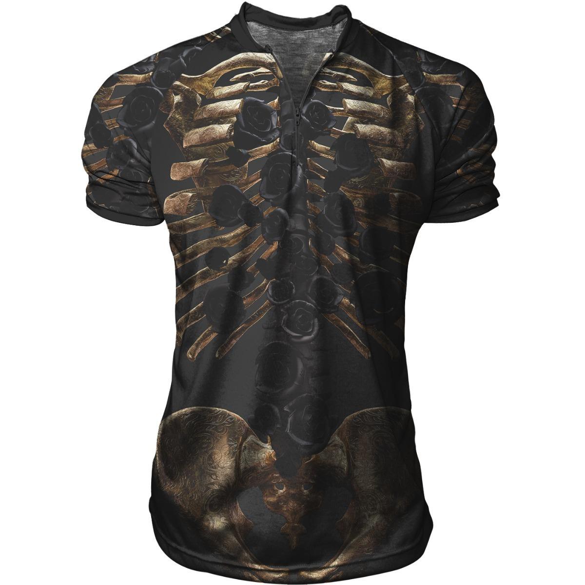 a5fb0bdef8 Camiseta Camisa Polo Sport Ziper Skelet Swag B156 - R  56