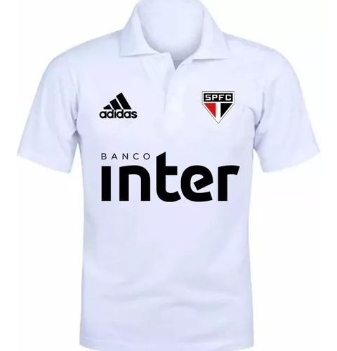 camiseta camisa polo torcedor são paulo 2019 ref 001