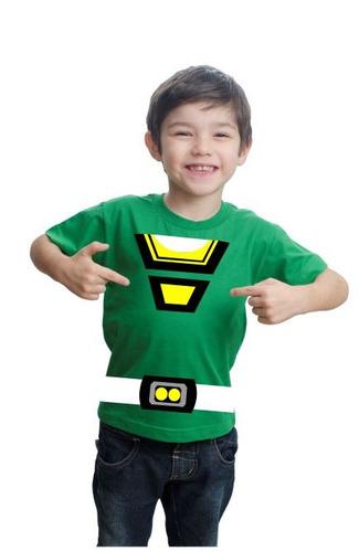 camiseta camisa power rangers turbo infantil algodão