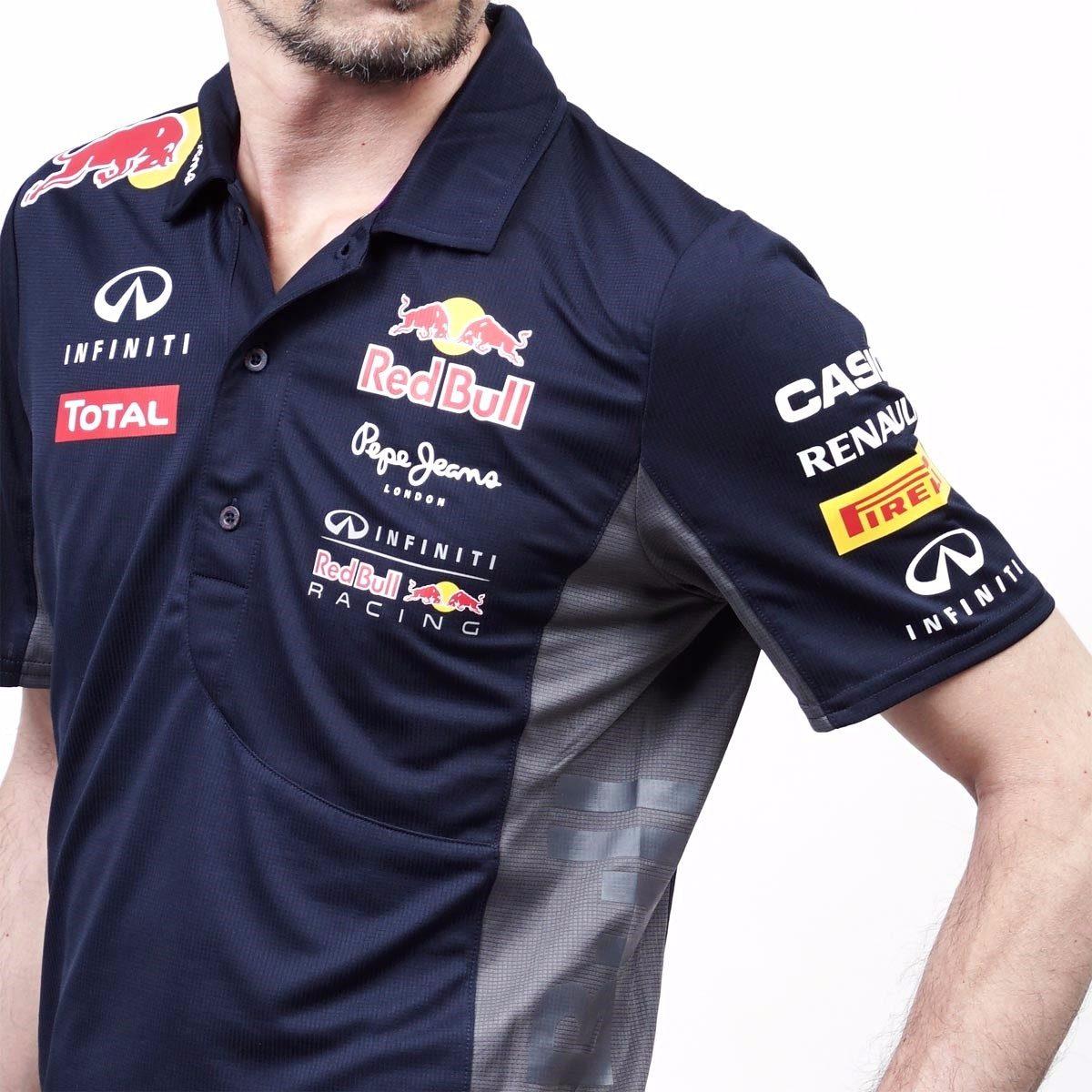 Camiseta Camisa Red Bull F1 100% Algodão Polo Qualidade Nova - R ... 08c6f394f54
