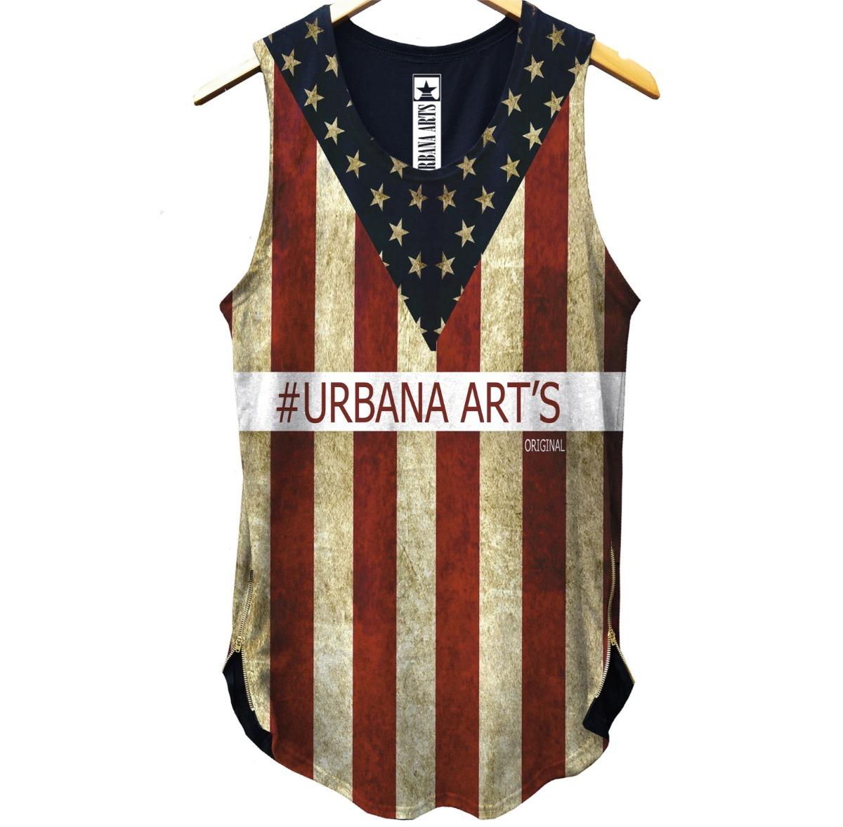 ad2f4182d7 camiseta camisa regata usa estados unidos cavada swag long. Carregando zoom.