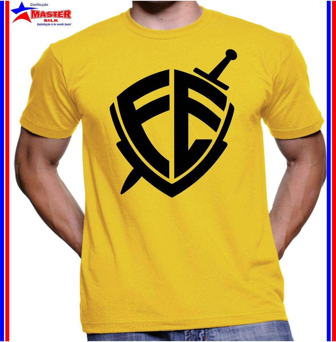 Camiseta Camisa Religiosa Escudo Armadura Da Fé Em Deus Pai - R  42 ... 798bab61007