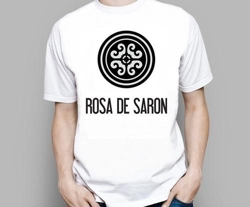 camiseta camisa rosa de saron evangélica jesus deus banda