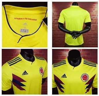 bf633265c Camiseta Camisa Selecao Colombiana Colombia Copa 2018 Lisa - R  180 ...