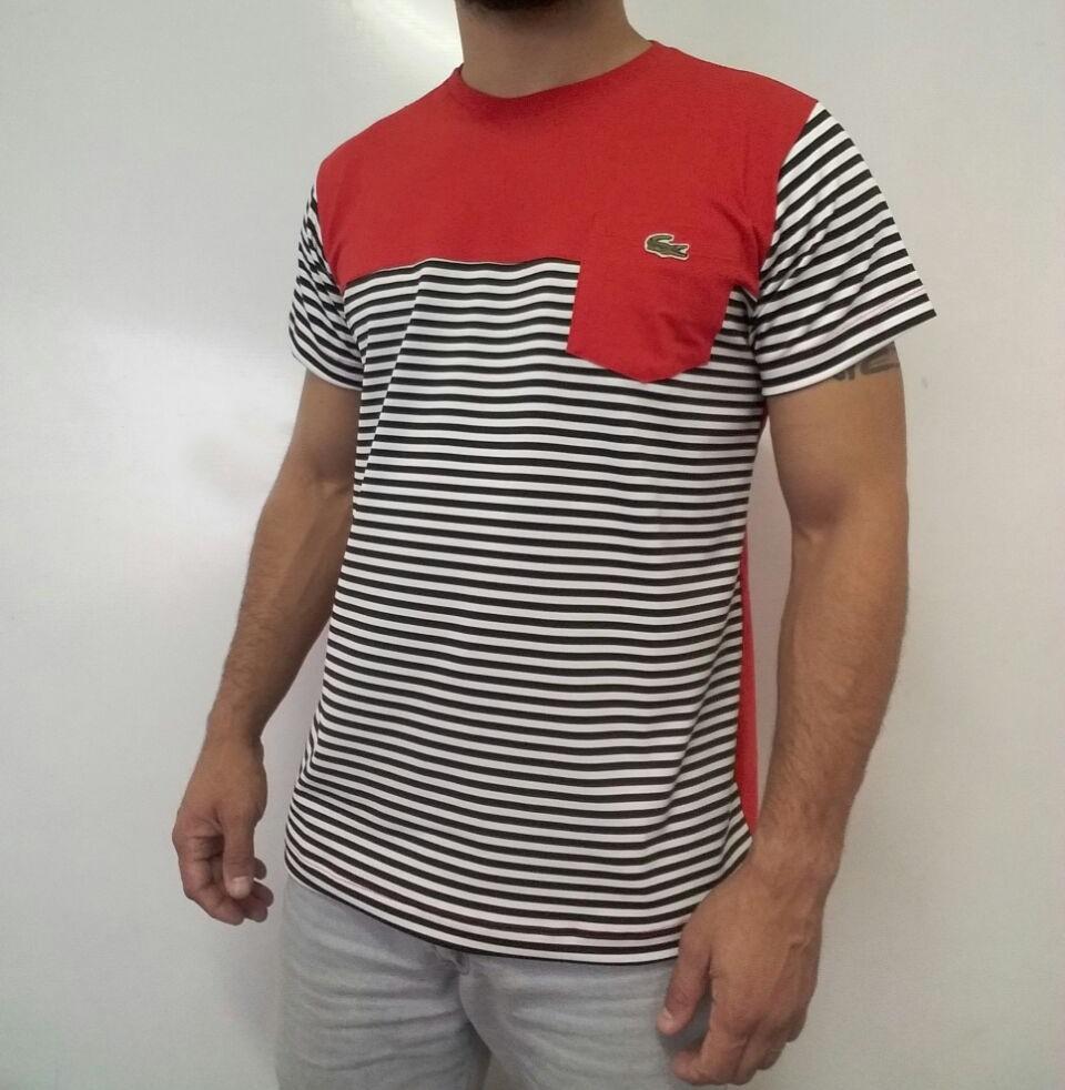Camiseta Camisa T-shirt Lacoste Com Elastano E Bolso - R  39,90 em ... 8022c8f8a1